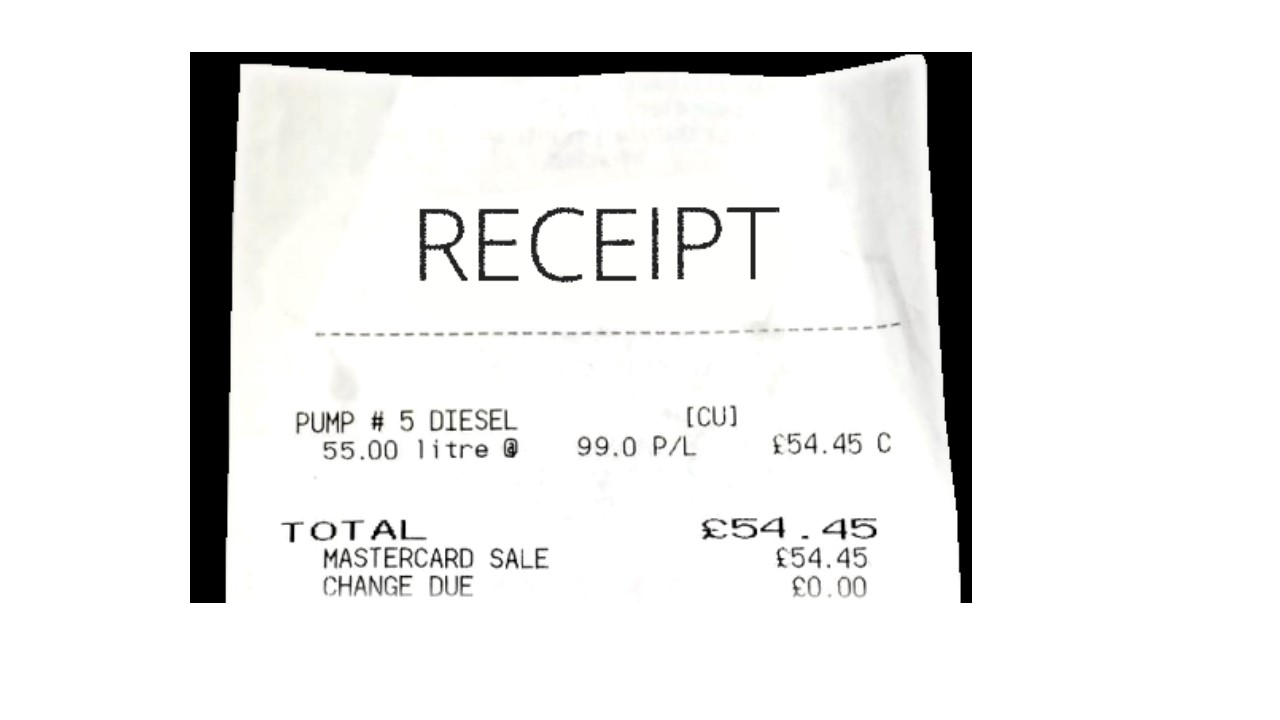 What's wrong with this receipt?