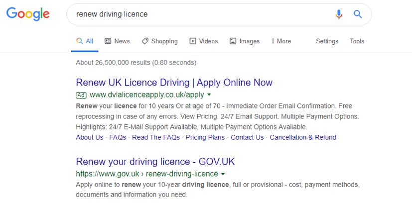 At 70 for licence free uk gov renew driving www How to